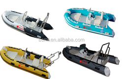 2015 China CE Certificate Manufacturer Rigid Hull Aluminium RIB Hypalon Inflatable Boat/fiberglass inflatable boat