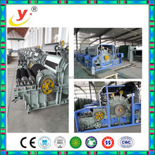 New technology fabric carding machine double cylinder double doffer carding system
