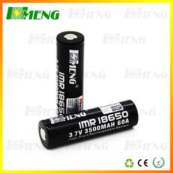 rechargeable 3.7v 3500mAh li-ion 18650 battery for vape mod