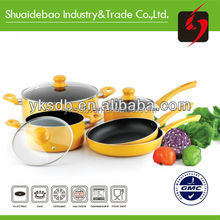 electric bbq grill with hot pot wholesale non-stick with glass lid cookware
