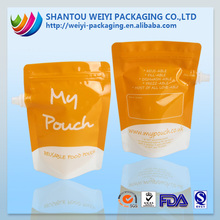 wholesale stand up zip lock plastic pouch with spout