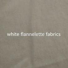 "100%Cotton 24x13 40x42 36""/44""/58"" Flannelette Fabric White"
