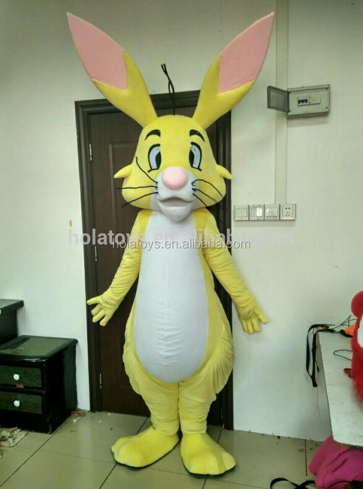 hola jaune lapin mascotte costume personnalis de mascotte costumes pour vente mascot id de. Black Bedroom Furniture Sets. Home Design Ideas
