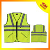 safety work vest with multiple reflective tapes and two pockets