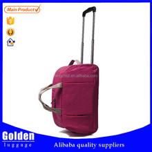 light weight big capacity trolley duffel bag, men and lady trolley gym bag sport trolley bag