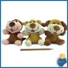 wholesale safe kid toys smile bear shape plush toys animal sound plush toy
