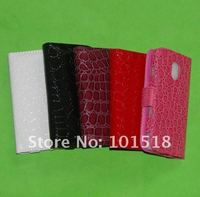 Wallet case For Samsung Galaxy Nexus i9250 leather case Croco style