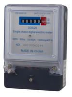 Single Phase Electronic Kilowatt Hour Meter/kwh Meter Single Phase Digital