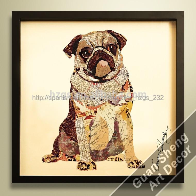 Especial para perros pug animal ideas para pintar cuadros - Ideas para pintar cuadros ...