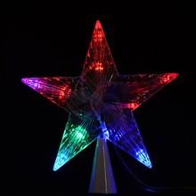 LED Indoor Outdoor Tree Topper Bright Star Shape Led Lights Lamp TK1350
