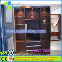 Customized indoor commercial bar cabinet white wine cabinet