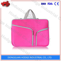 Pink hot sell plain neoprene laptop bag computer bag for lady