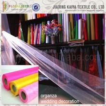 25m Roll Wedding Table Runner Chair Sash Glitter Fabric Organza