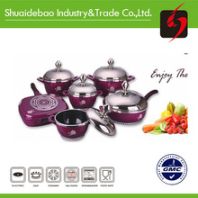 induction cook ware 2015 hot sales new arriva aluminum enamel
