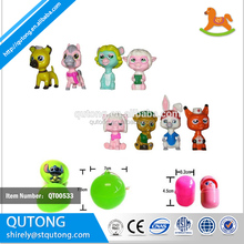 customized cartoon dog and cat small plastic animal figurines