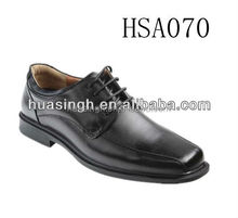 genuine leather 2015 hot selling black business men dress shoes with lace up