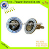 hot sale custom Metal round cufflink for mens shirts