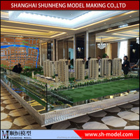 Architectural model 3d rendering design for construction building scale models