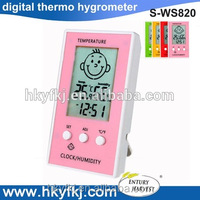 Face Pattern LCD Smart Electronic Thermometer Hygrometer for Baby Room(S-WS820)