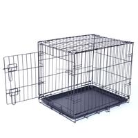 Cheap Wholesale Black Metal Pet Crate Folding Crate Iron Dog Crate