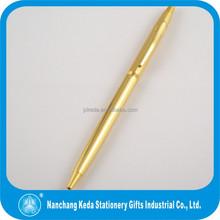 Shining metal gold ball pen best selling gift ball pen in fashion design