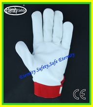 General purpose cow grain leather safety protective leather safety long labor glove for duty work