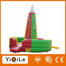Exciting and funny inflatable equipment climbing rock toy for childern and adults