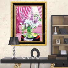 Diamond painting flower modern design acrylic painting wall art