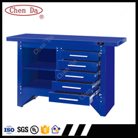 Professional Iron workbench with 5 drawers