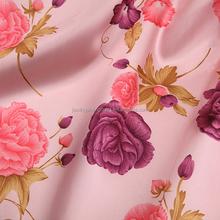 fancy color beautiful flower design printed taffeta fabric