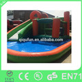 Popular personalizado toboganes inflables precio/diapositiva inflable con piscina