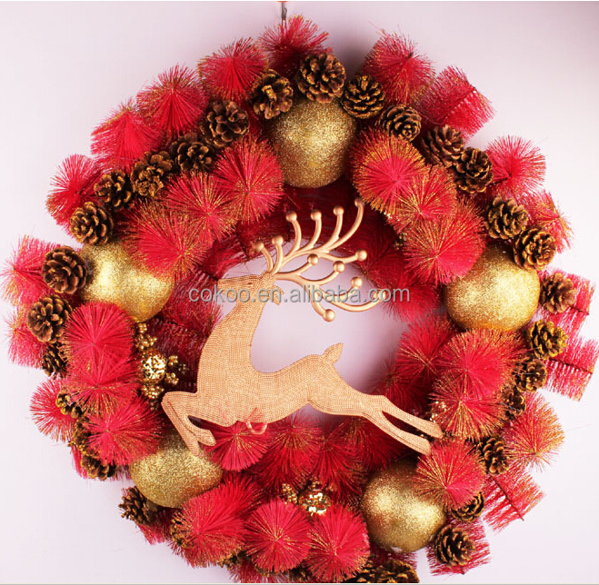 Hot sale christmas wreaths and garlands wholesale