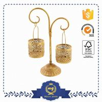 High Standard Custom Made Small Order Accept Round Metal Wall Mounted Votive Candle Holders