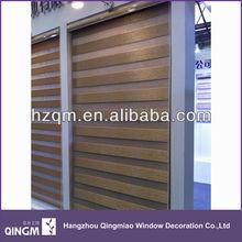 Wholesale Modern Style Window 8-Folded Gold Silk Zebra Blind Fabric