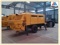 Chinese diesel concrete pump 80m3/h output with high classic Power, hydraulic, pumping, Lubrication, cooling system