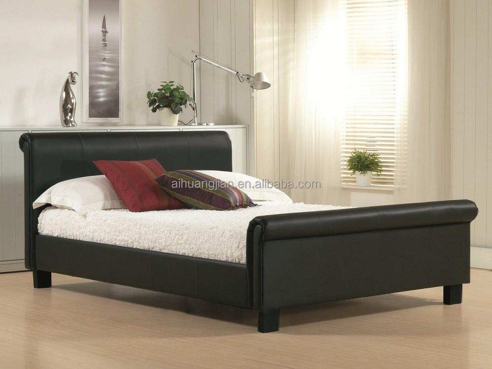 Pu baratos al por mayor camas tamaño camas trineo, de imitación de ...