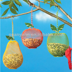Colorful Fruit Hanging on Tree Metal Automatic Bird Feeders Parts Wholesale Garden Decoration