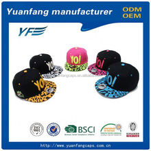 Floral Brim Snapback Adjustable Fitted Men'S Women'S Hip-Hop Cap Hat Headwear