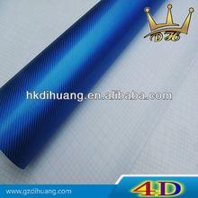 azul 4d folie de carbono con el aire de la burbuja libre de vinilo autoadhesivo folie