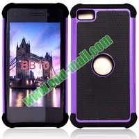 Football Texture Silicone and PC Hybrid Rugged Phone Case for BlackBerry Z10