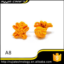 popular yellow floral cufflink part