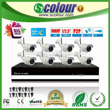 fiber optic twinkle star ceiling kits 8CH CCTV Surveillance Security NVR Kit(BE-6009SLIPWA)