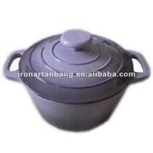 enamel non-stick cast iron pink cookware pot set