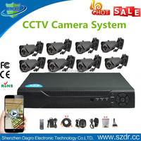 Wholesale Bullet Style H.264 720P 8CH AHD DVR Kit 8PCS Outdoor Waterproof AHD High Focus CCTV Security Camera