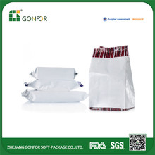 Laminated material zip lock clear plastic packaging,plastic bags for rice packaging