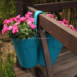 Patented Twins Balcony Flower Pot,Newly Designed Garden Planter from Yongkang Manufacturer