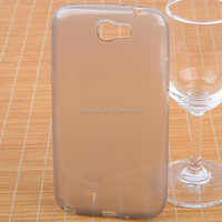 2014 NEW TRANSPARENT FROSTED FULL COVERED TPU GEL CASE COVER FOR SAMSUNG GALAXY NOTE2 N7100+SCREEN FILM