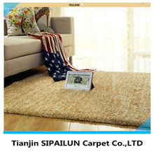 Classic yellow M6 microfiber plain rugs,carpets from china supplier