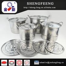 12pcs set stainless steel high steamer pot