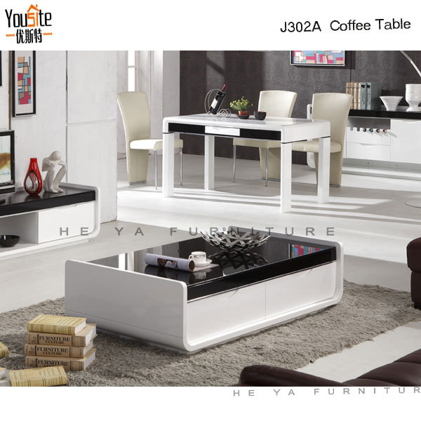 Table de centre moderne de verre rectangulaire pour salon - Centre de table moderne ...